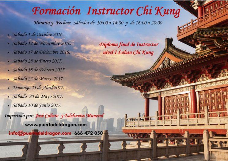 Curso Instructor Chi Kung 2016 2017