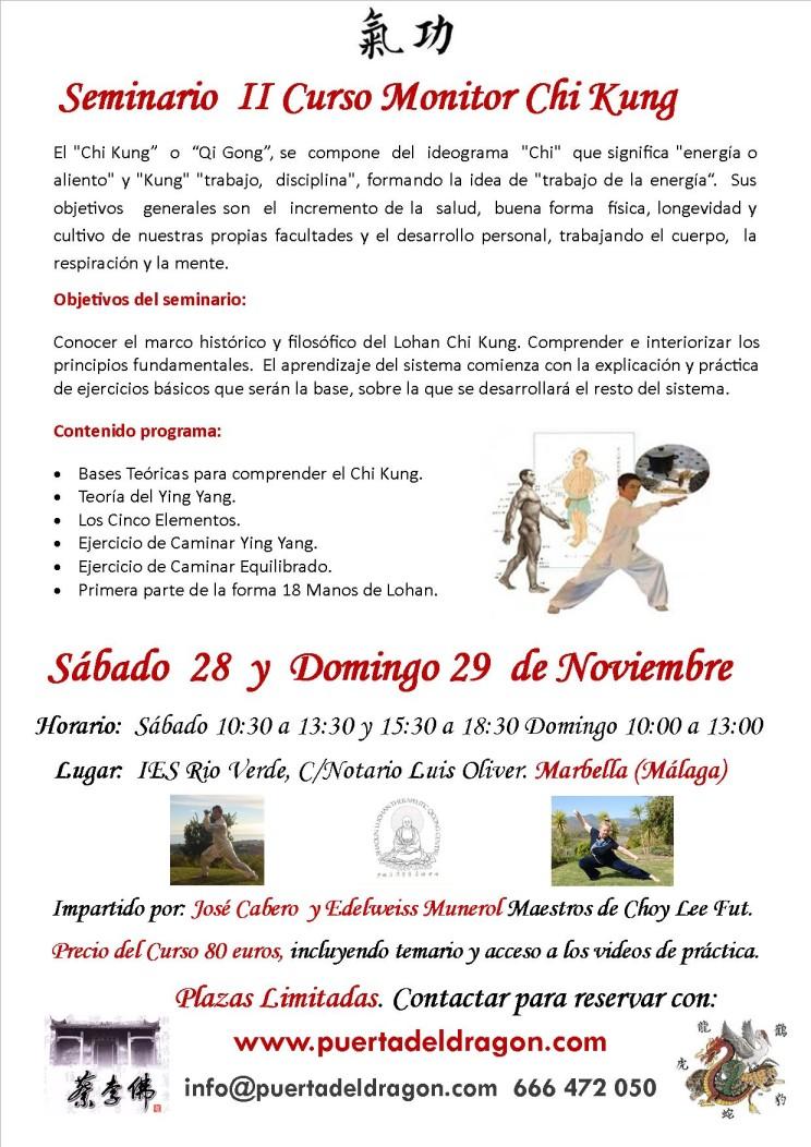curso Monitor Marbella 28.11.15