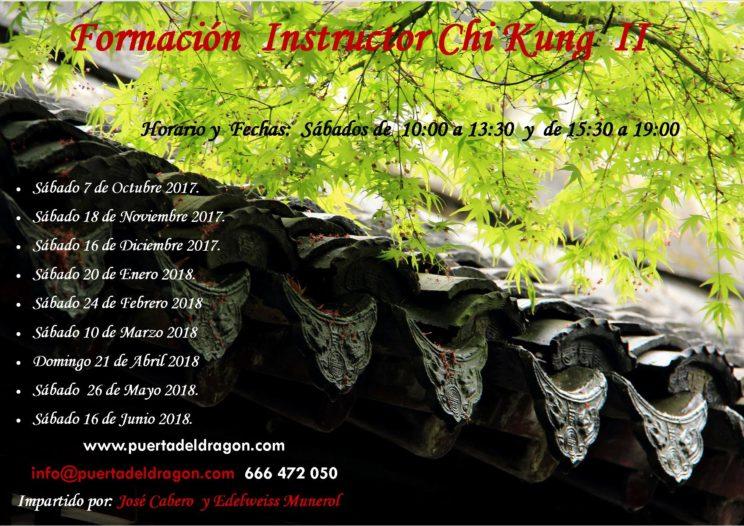 Curso Instructor Chi Kung II 2017 2018